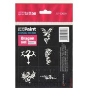Mozzart Dövme Sticker Set Dragon 5 'LI - SW-800-1
