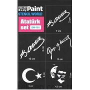 Mozzart Dövme Sticker Set Atatürk 5 'LI - SW-101