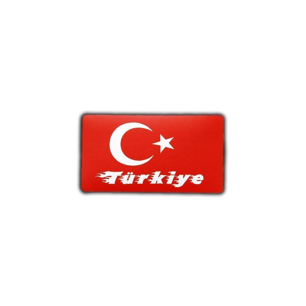 Turk Bayragi Turkiye Yazili Oto Sticker 5 5 Cm X 10 Cm Tekzen
