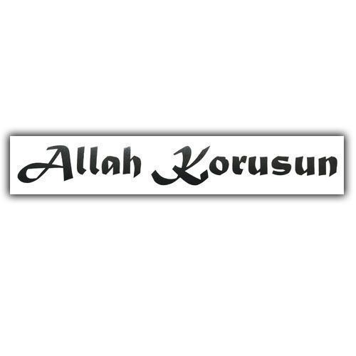 Allah Korusun Araç Yazısı 135cm 2cm Tekzen