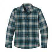 Patagonia Men'S Long-Sleeved A/C Steersman Shirt Yeşil.Mavi L