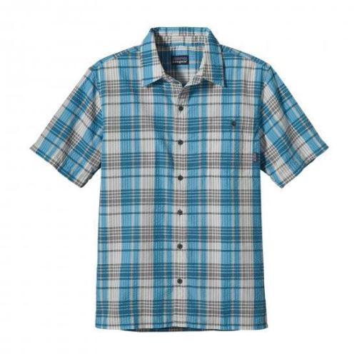 Patagonia Men'S Puckerware® Shirt Mavi-Beyaz