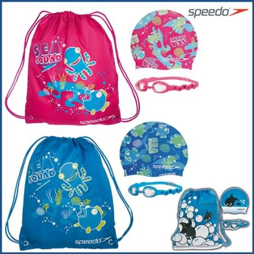 Speedo Sea Squad Swim Bag Junior Yüzücü Seti Asorti Renklerde