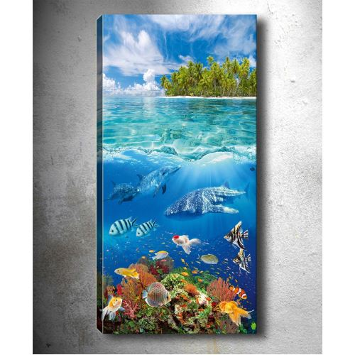 Tablo Center Dikey Dekoratif Kanvas Tablo 30x90 cm D102063