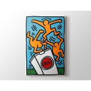 Keith Haring - Lucky  Tablo Dikey 40 X 30 Cm