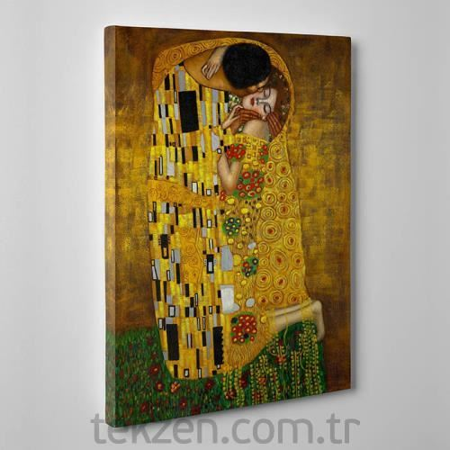 TabloShop - Gustav Klimt - The Kiss Kanvas Tablo - 50x75cm