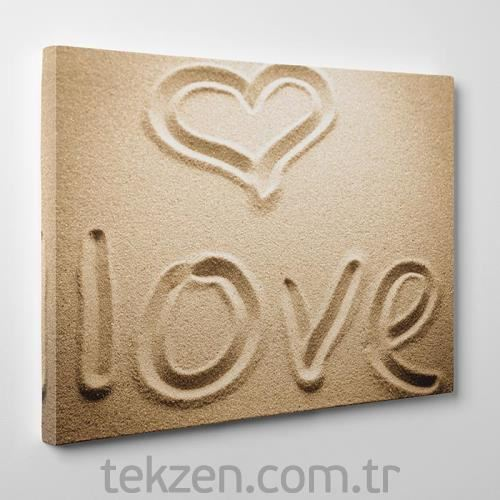 TabloSHOP - Love in the Sand Canvas Tablo - 60x40cm - SG-22