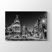 Tabloshop Madrid Grand Via Tablosu 45x30 cm