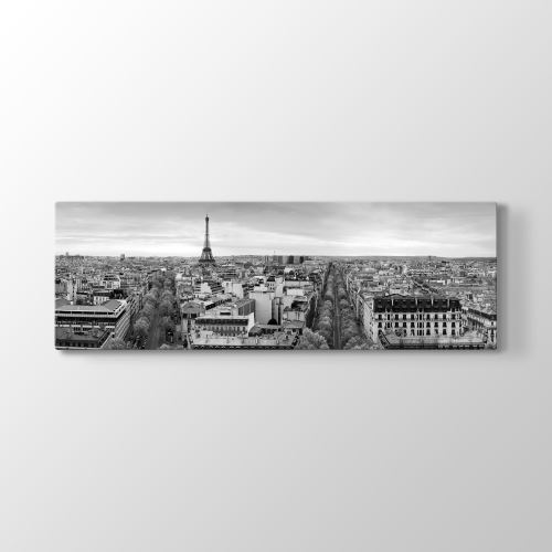 Tabloshop Paris Panorama Manzara Tablosu 180x60 cm