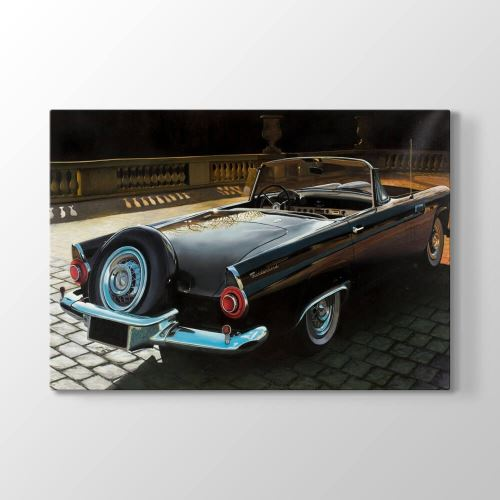 Tabloshop 1956 Model Thunderbird Tablosu 75x50 cm