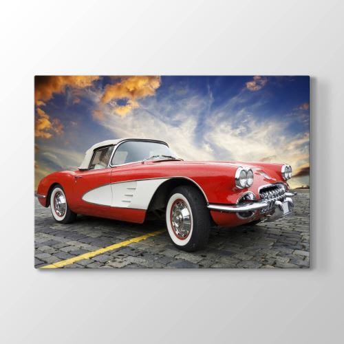 Tabloshop 1957 Model Corvette Tablosu 60x40 cm