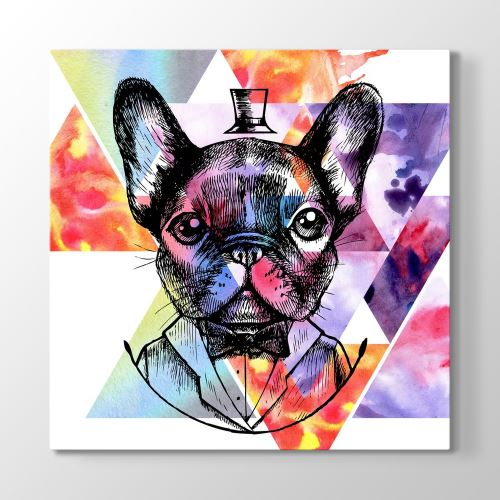 Tabloshop King French Bulldog 30x30cm