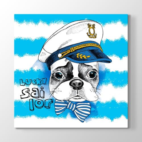 Tabloshop Lucky Sailor Tablo 60x60cm