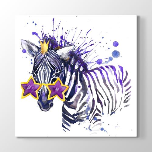 Tabloshop Queen Zebra Tablosu 100x100 cm