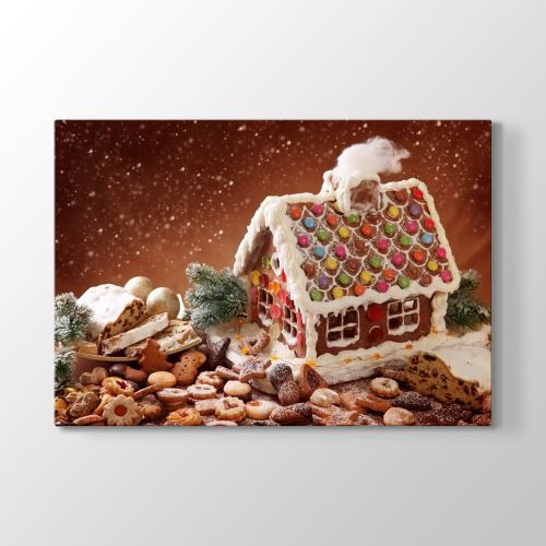 Tabloshop Gingerbreat Tablosu 90x60 cm