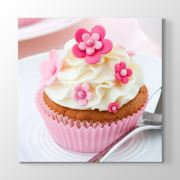 Tabloshop Cupcake Pembe Tablo 30x30cm