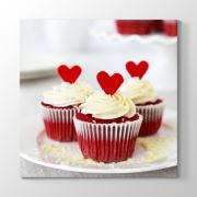 Tabloshop Cupcake Kalpli Tablo 30x30cm