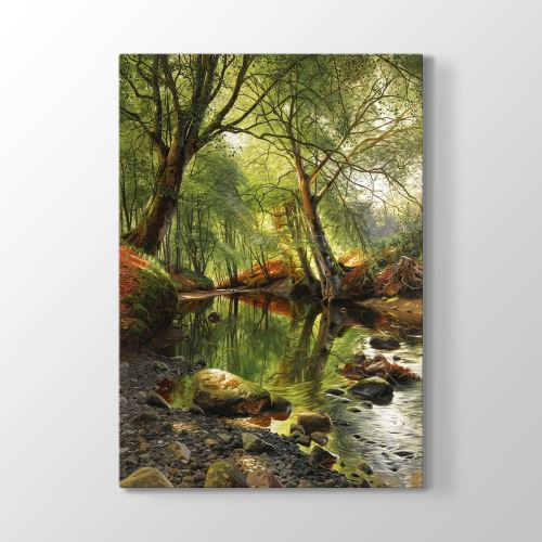 Tabloshop Peder Mork Monsted - A Woodland Stream Tablosu 50x75 cm