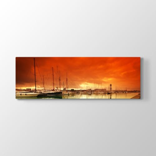 Tabloshop Liman Panorama Tablo 150x50 cm