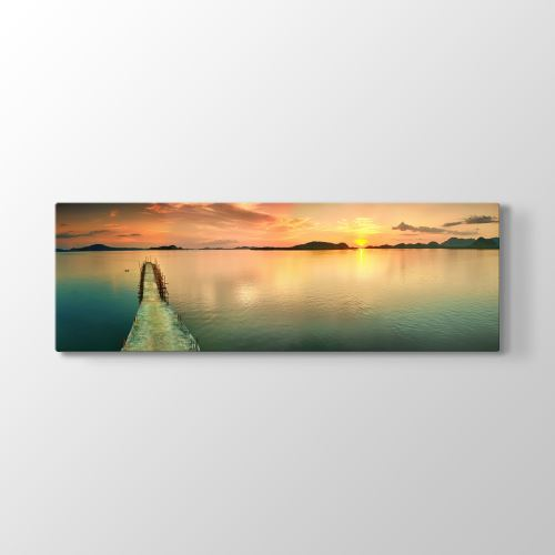 Tabloshop İskele Panorama Tablosu 150x50 cm