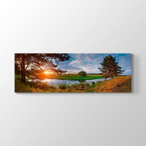 Tabloshop Panorama Manzara Tablo 180x60 cm