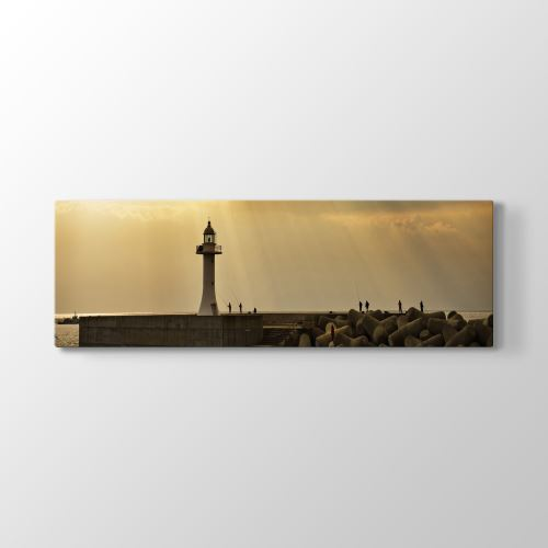 Tabloshop Deniz Feneri Panorama Tablo 180x60 cm