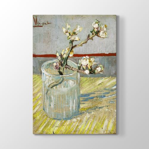 Tabloshop Vincent Van Gogh - -Sprig of Flowering Tablosu 60x90 cm