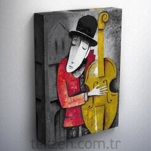Tabloshop - Instrument Playin Series Iı Kanvas Tablo 50x75cm