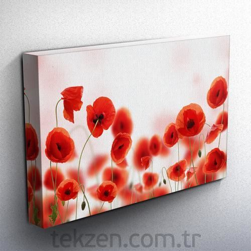 Tabloshop - Poppy Field V Kanvas Tablo 75x50cm