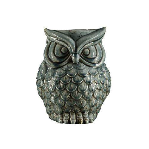 Cemile Soft Blue Owl Container 25 cm