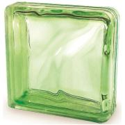 Cam Tuğla Green Double End Wave 19x19x8 cm