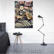 New York Kanvas Saat  - 40x60 cm