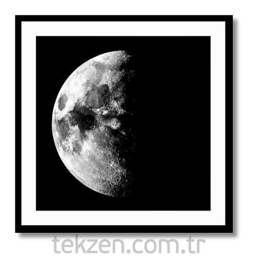 Yarım Ay Kanvas Tablo 50x50 Cm Tekzen