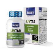 West Nutrition Livtab Milk Thistle (Deve Dikeni) ve Enginar Ekstresi Karışımı 90 Tablet x 1000 mg