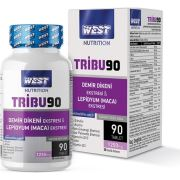 West Nutrition TRIBU90 Tribulus Terrestris & Lepidyum (Maca) Ekstresi 90 Tablet x 1250 Mg